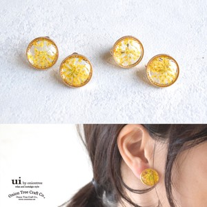 Pierced Earring Flower Earring Flower Dry Flower Clip Accessory