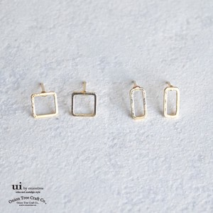 Pierced Earring Rectangle Square Accessory