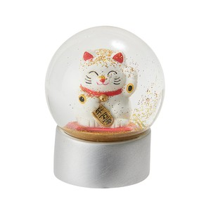 Snow Dome Beckoning cat