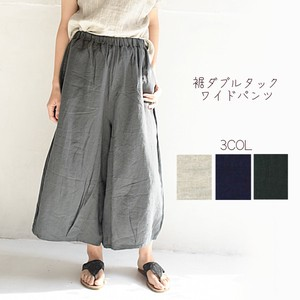Linen Double Tuck wide pants