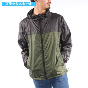 [2019NewItem] Nylon Jacket Hoody Water-Repellent UV Cut Switching Wind Breaker