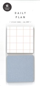 Journal Daily Plan Sticker Square 2 Colors Sticky Note 5 Pcs Each Sheet