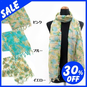 Spring Items Material Brilliant S/S Stole Floral Pattern