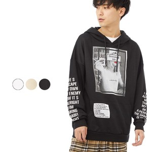 S/S Men's Digital Print Print Sheet Pasting Big Hoody
