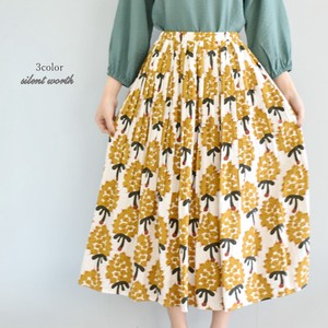 S/S Repeating Pattern Elase Pleats Long Skirt