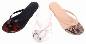 Number 1 Bi-Color Tong Sandal 8 mm Heel Fluffy Cushion Insole