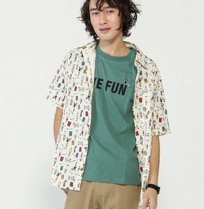 Repeating Pattern Print Short Sleeve Shirt