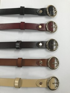 """2020 New Item"" Cow Leather Gold Buckle Belt"