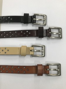 """2020 New Item"" Cow Leather Punching Belt"