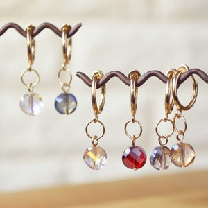 Hoop Earring Bi-Color Jewel 3 Colors