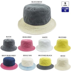 Bio Wash Plain BUCKET HAT