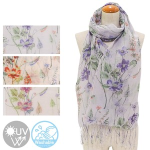S/S Stole Organic Flower Processing Stole Uv Countermeasure