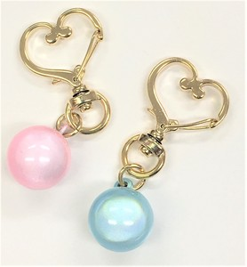 Mystery Timbre Half Length Crystal Heart Charm Key Ring