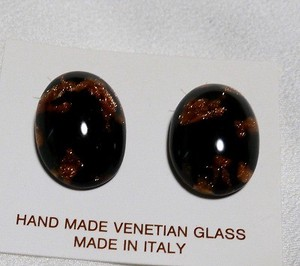 Italy Glass Handmade Earring Italia Venetian Glass