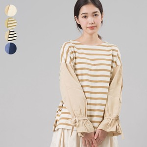Cuff Knot Fabric Switching Pullover