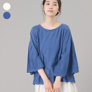 Panel Embroidery Pullover Blouse