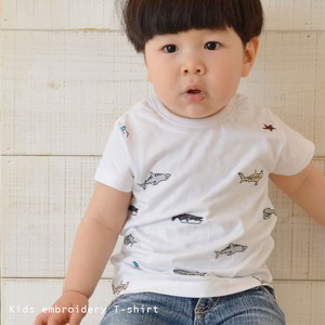 Kids Handwriting Illustration Embroidery T-shirt