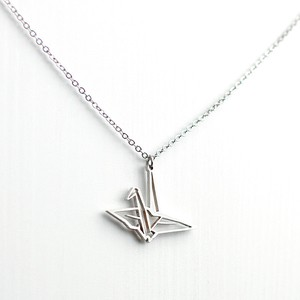 Folded Paper Crane Necklace AP