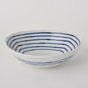 HASAMI Ware Line Deformation Large Bowl