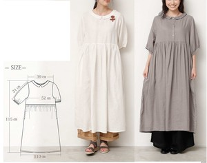 [2019NewItem] French Linen Half Length One-piece Dress