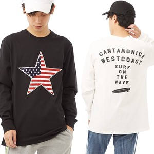 S/S Men's Star Patch Long Sleeve Print