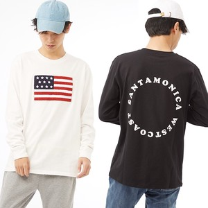 S/S Men's Stars And Stripes Patch Long Sleeve Print