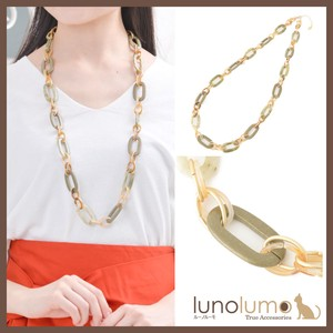 Necklace Ladies Smoky Green Gold Chain Long Necklace