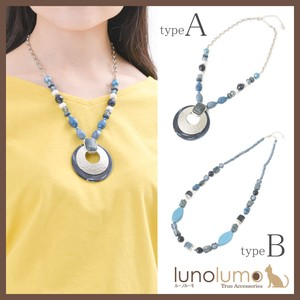 Necklace Ladies Navy Marine Color Pendant Necklace Long Necklace