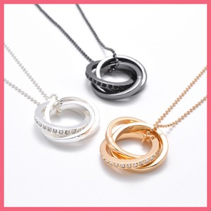 Closs Triple Ring Necklace
