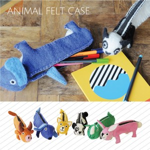 Pleasant Pencil Case ANIMAL Animal Felt Case