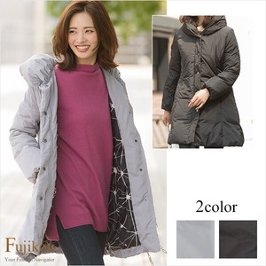 Geometry Lining Shawl Color Down Coat
