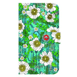 flower Notebook Type Smartphone Case