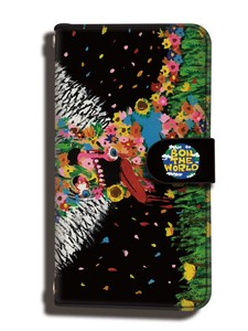 Flower Monster Notebook Type Smartphone Case