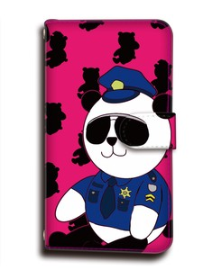 Panda Bear Notebook Type Smartphone Case