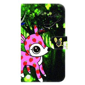 Strawberry Bambi Notebook Type Smartphone Case