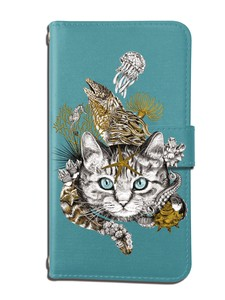 Cat Notebook Type Smartphone Case