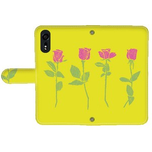 rose Notebook Type Smartphone Case