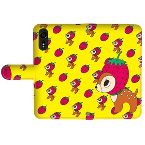 Strawberry Bambi Yellow Notebook Type Smartphone Case