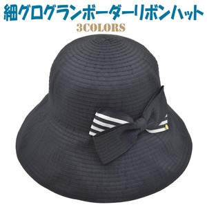 For Summer Border Ribbon Hat Ladies Adjustment Attached