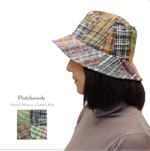 Patchwork Hats & Cap Weaving Cotton Hat