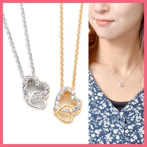 Double Frame Heart Necklace