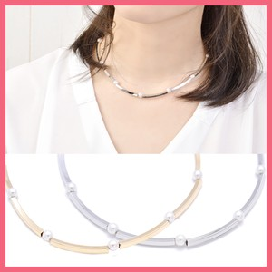 Pearl Metal Square Pipe Necklace