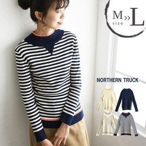 Spring Knitted Sweater Mock Neck Cotton Knitted