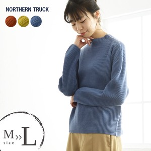 Knitted Sweater Wide Drop Shoulder Mock Neck