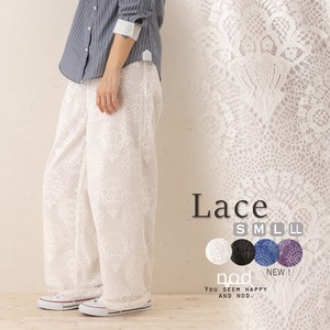 New Color Lace wide pants Natu Natural
