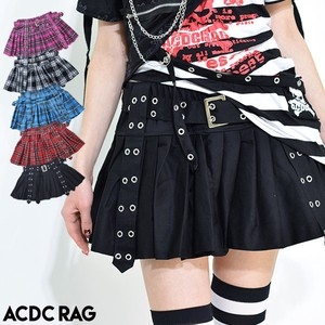 Pleats Pants Skirt Mini Skirt Punk ACDC RAG