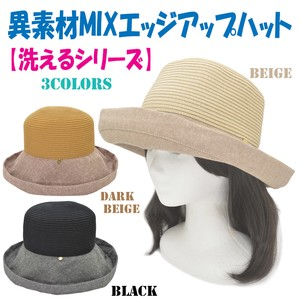 For Summer Washable Series Material Edge Hat Ladies