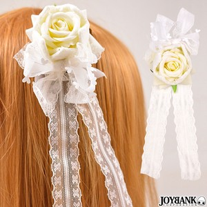 White Rose Hair Clip Lace Rose rose Cosplay Decoration Head Dress Fancy Goods