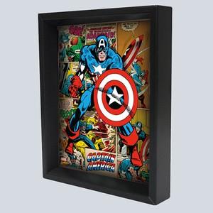 【アメリカン キャラクター】3-D シャドーボックス Captain America