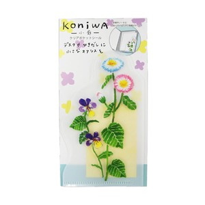 Clear Plastic Punched Pocket SEAL DAISY